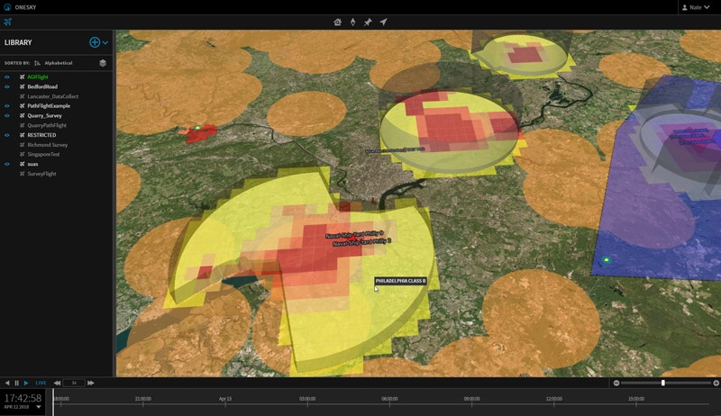 OneSky Using Cesium / 3DTiles For Volumetric Airspace